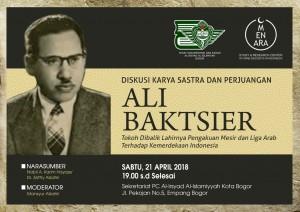 Ali Ahmad Baktsir, diskusi Pusdok Bogor 21 April 2018